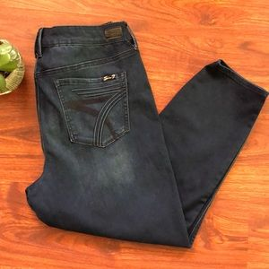 Seven 7 jeans dark blue high rise ankle skinny 14